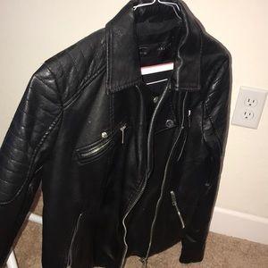 Zara basic Vegan Motorcycle jacket
